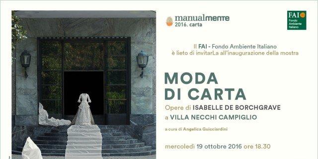 Moda di Carta. Opere di Isabelle de Borchgrave a Villa Necchi Campiglio