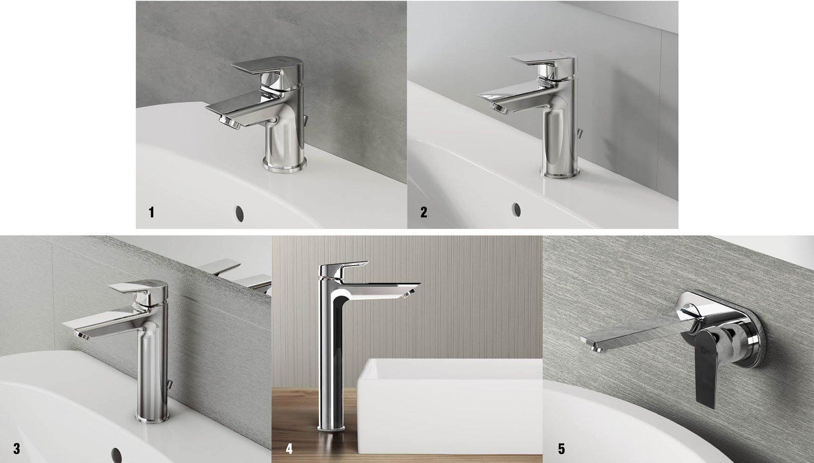 Tesi e ceramix per un bagno di tendenza cose di casa - Miscelatore a parete bagno ...