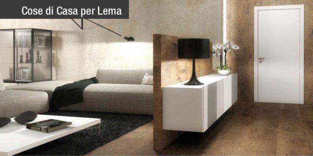 Ingresso aperto sul soggiorno: due progetti d'arredo in 3D