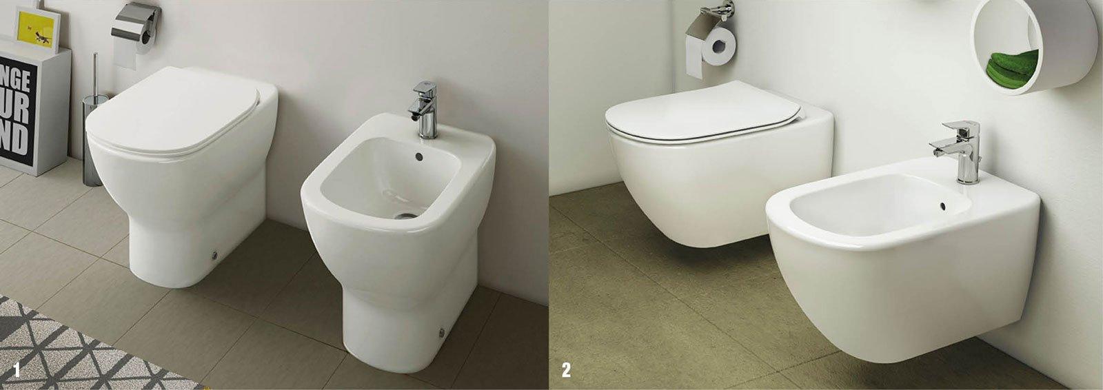 Tesi e ceramix per un bagno di tendenza cose di casa - Sanitari filo parete prezzi ...