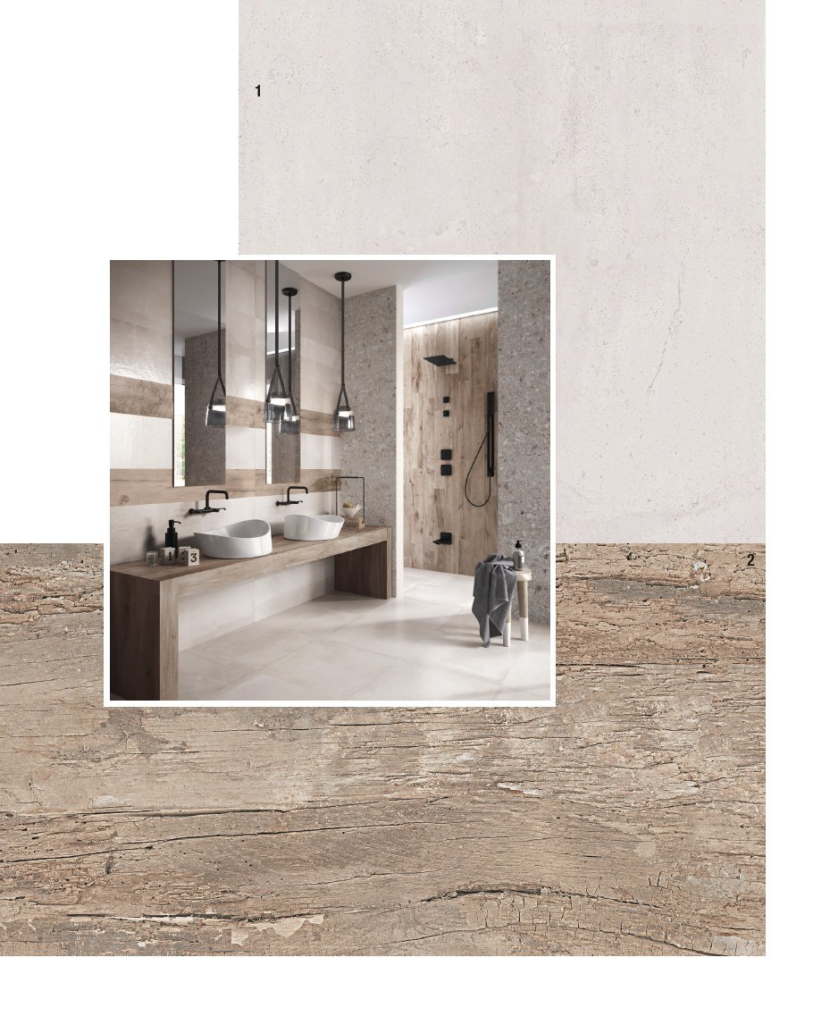 Piastrelle per il bagno 25 soluzioni e oltre 75 - Piastrelle bagno legno ...