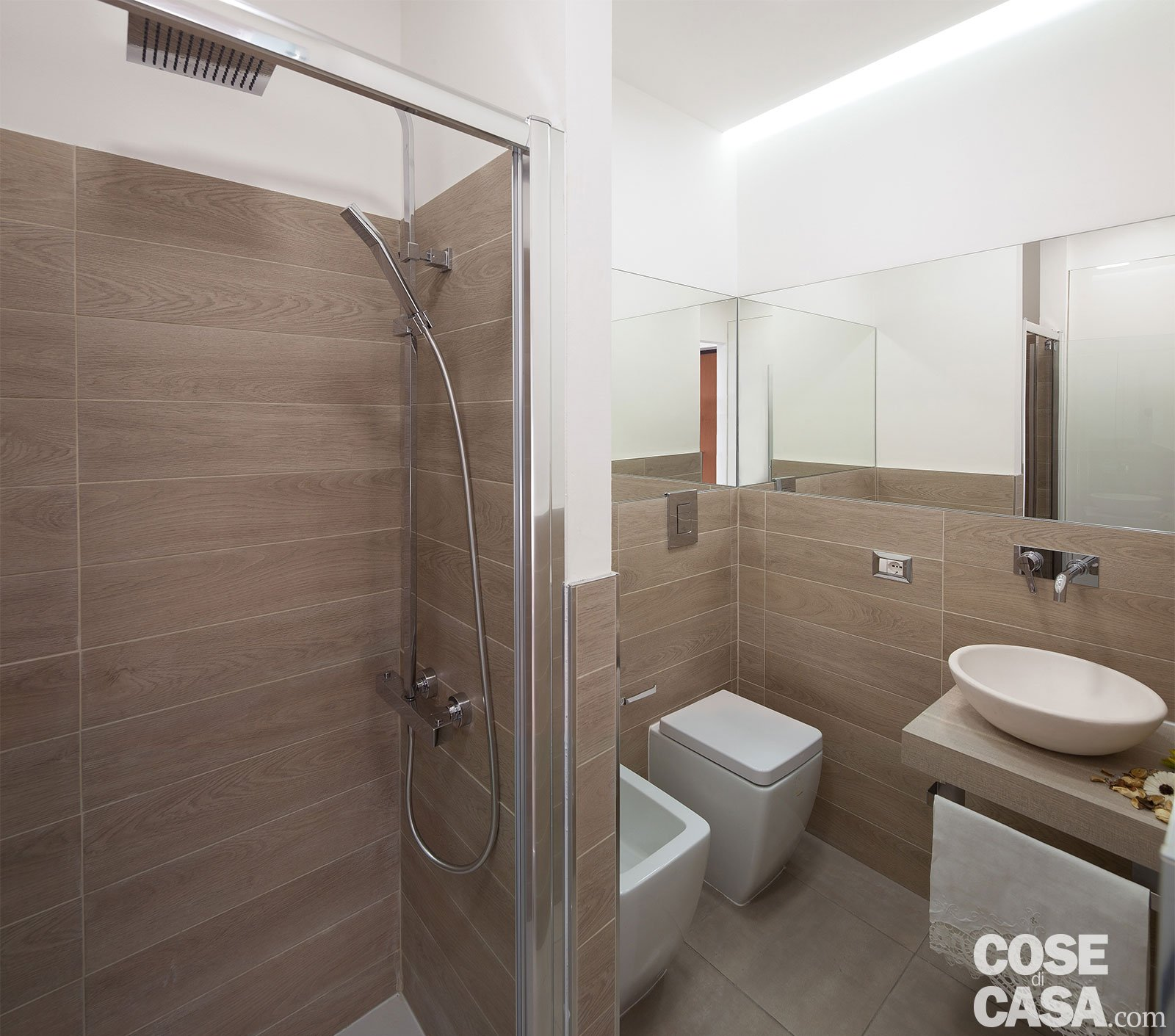 Bilocale di 40 mq casa mini comfort maxi cose di casa - Bagno gres effetto legno ...