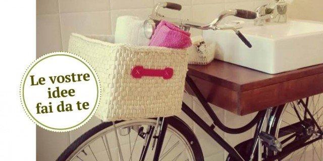 Per il bagno, lavabo d'appoggio… sulla bici vintage