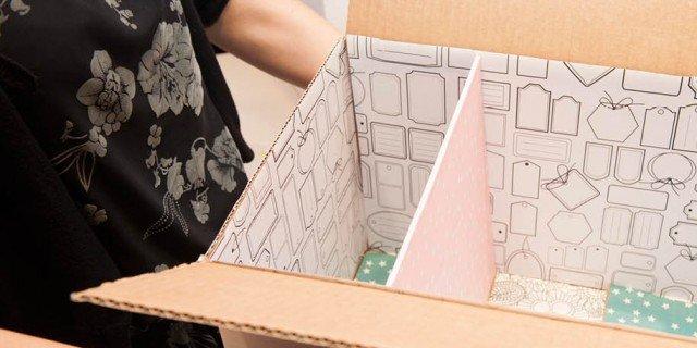Riciclo: da scatola a mini libreria