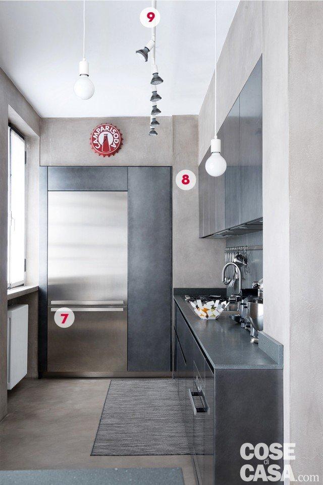 Interni di 67 56 50 mq elogio della semplicit cose di casa - Foro nel muro della cucina per normativa gas ...