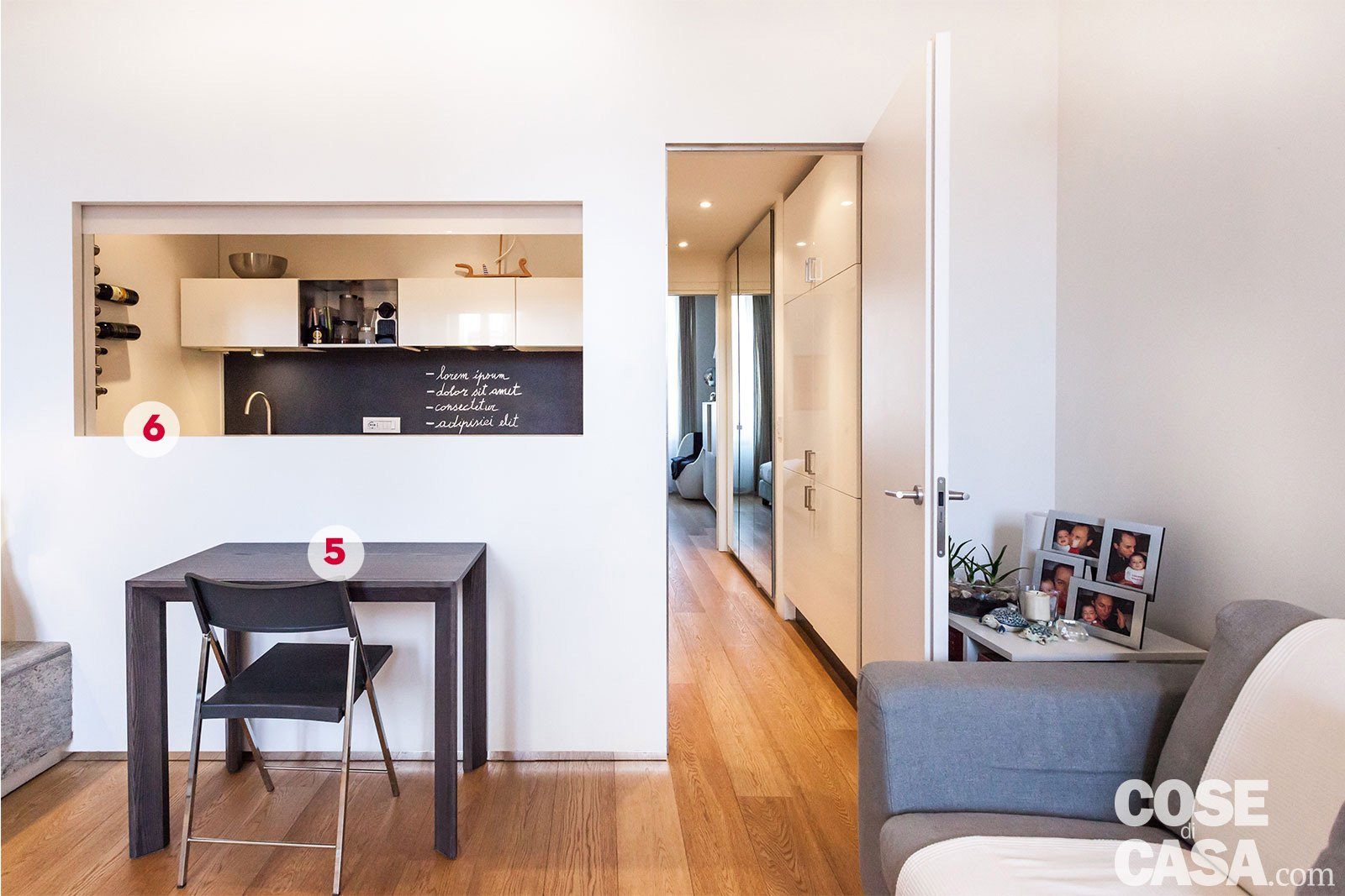 50 mq con soluzioni d 39 arredo salvaspazio cose di casa - Cucina aperta sul soggiorno ...