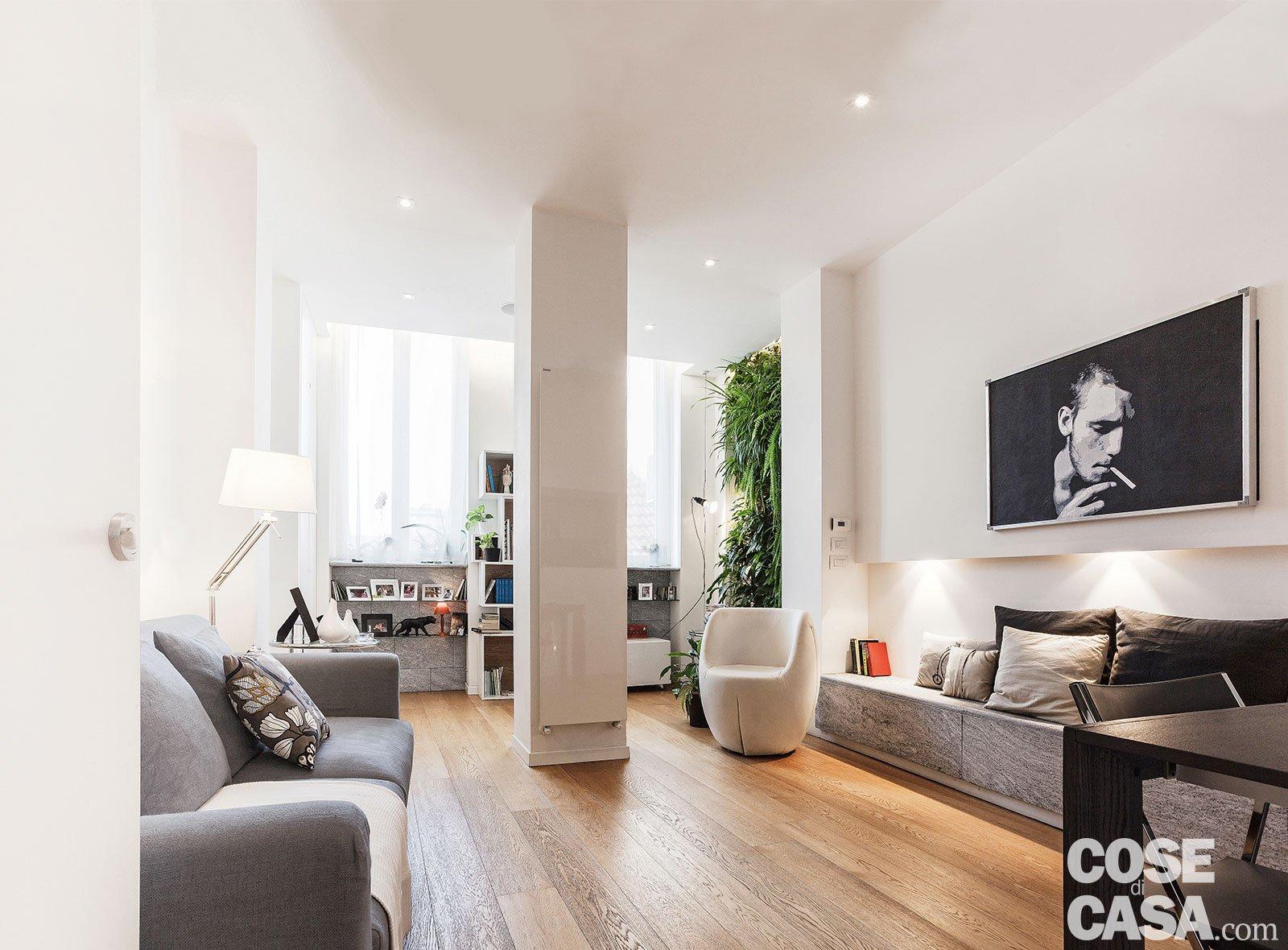 50 mq con soluzioni d 39 arredo salvaspazio cose di casa for Arredo soggiorno
