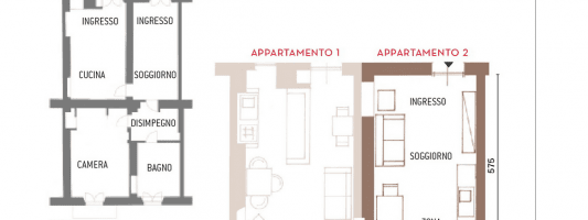 Dividere la casa in due bilocali