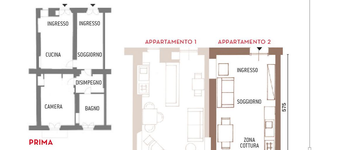 Dividere una casa in due iter costi e bonus fiscali for Piccoli piani di casa con un sacco di finestre