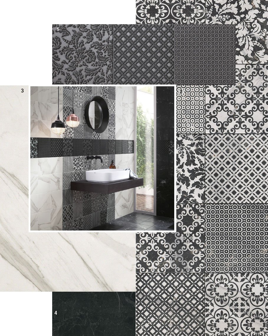 Bagno Con Mosaico Bianco piastrelle per il bagno: 25 soluzioni e oltre 75 abbinamenti