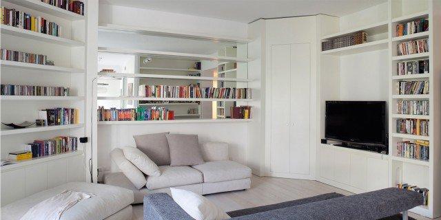 120 mq con un funzionale doppio corridoio e due stanze for Progetti mini appartamenti