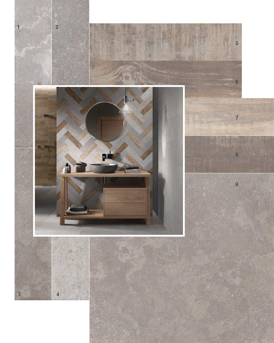 Resina con decori parete cucina - Comporre un bagno ...