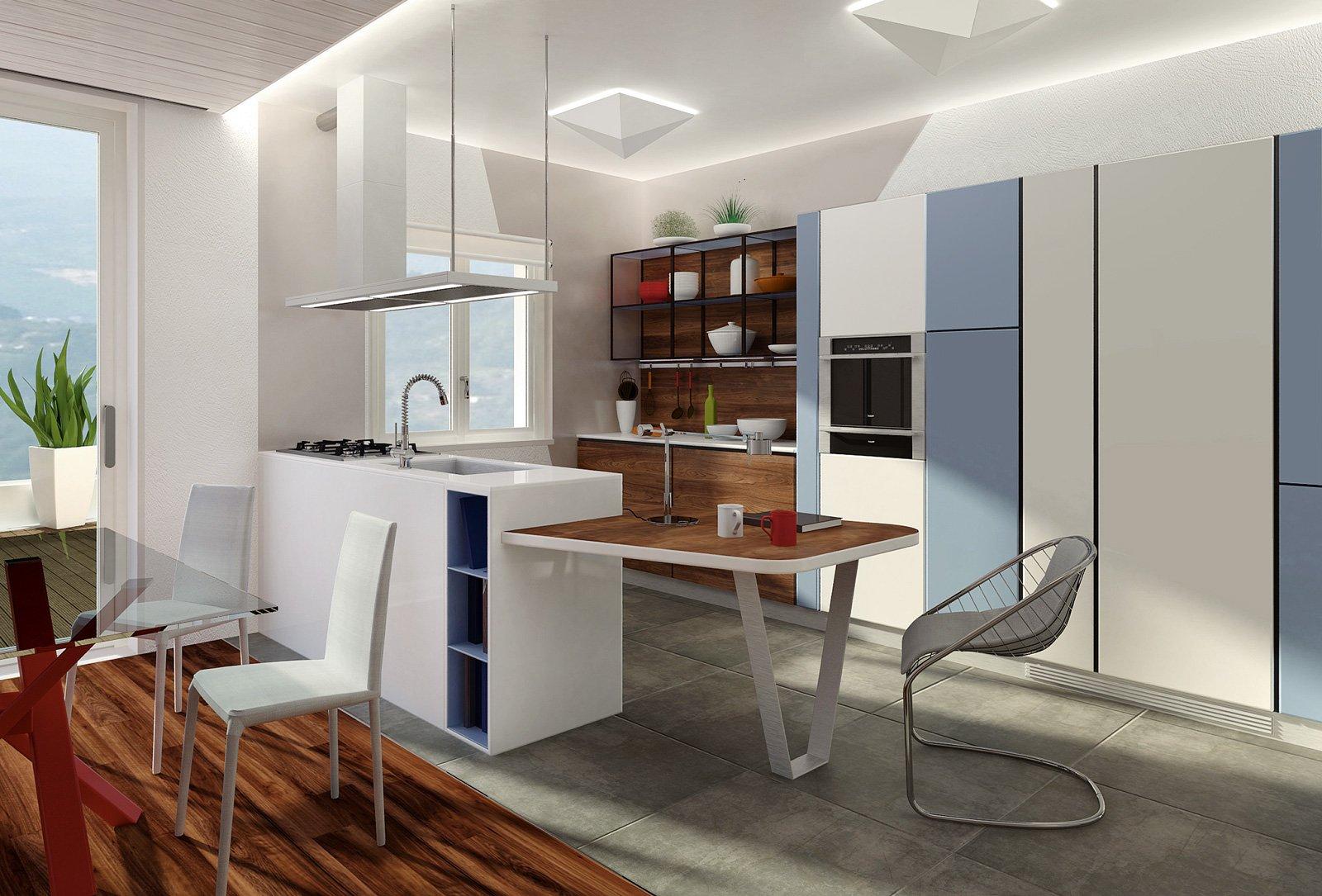 Progetti cucina due soluzioni per 7 mq cose di casa - Cucina 10 mq ...