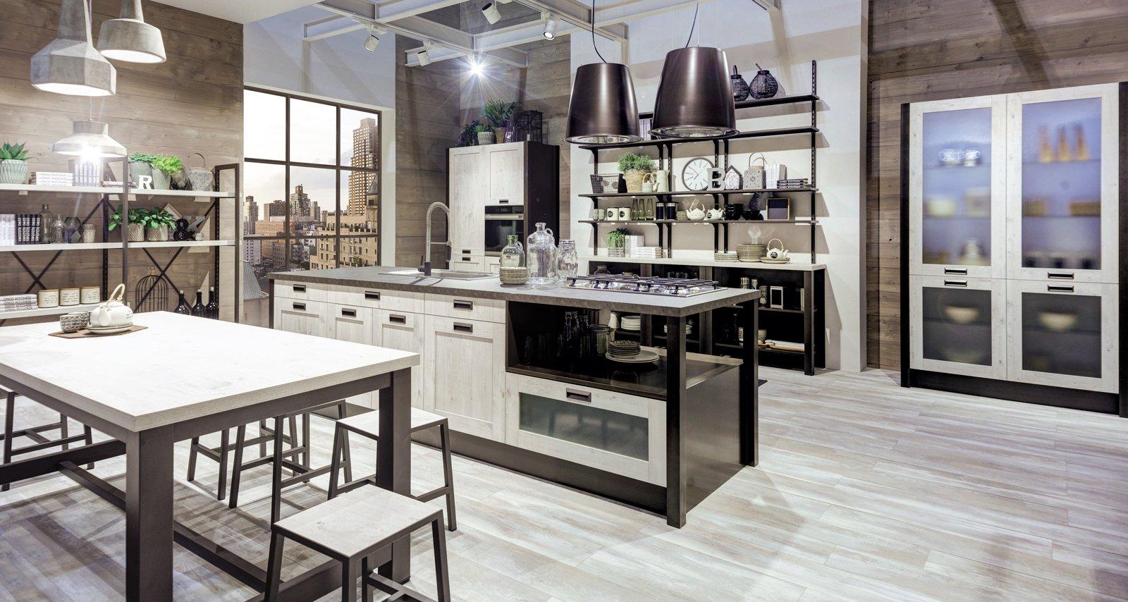 Cucina Con Vetrina. Soprattutto Classica O In Stile Industriale Cose  #4C597F 1600 854 Arredo Cucina Stile Industriale