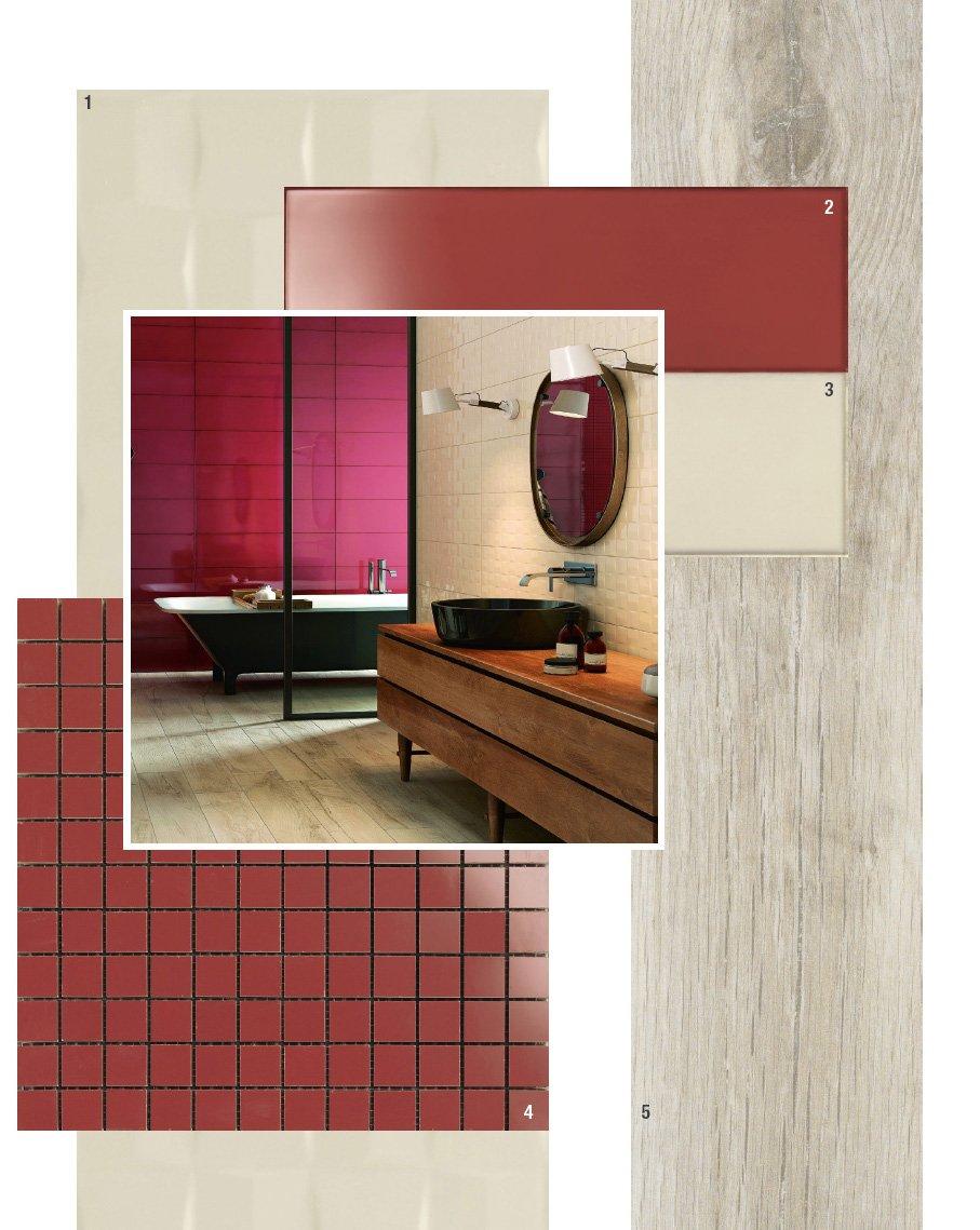 Color avio per pareti - Piastrelle bagno rosse ...