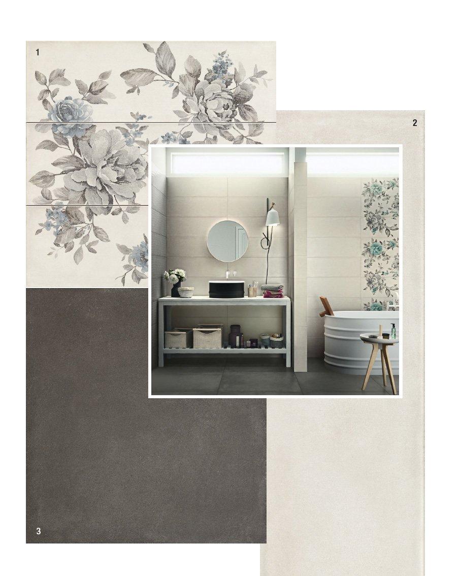 le pareti del bagno sono rivestite con piastrelle in monoporosa a pasta bianca della collezione rewind