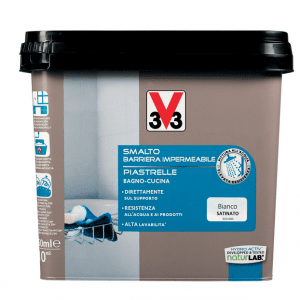 Pitturare le piastrelle bagno e cucina diventano come nuovi cose di casa - Smalto piastrelle v33 ...