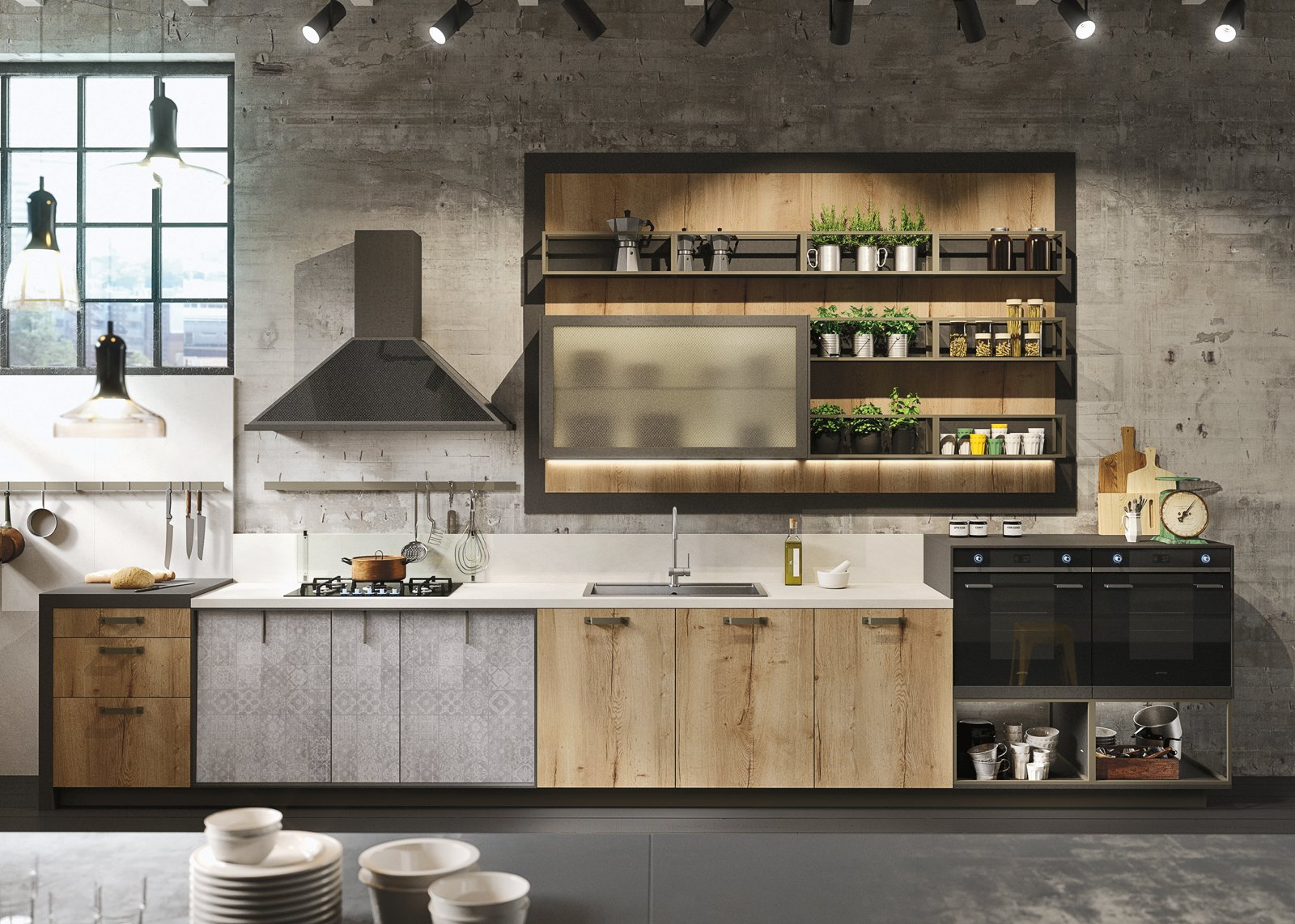 Cucina con vetrina. Soprattutto classica o in stile ...