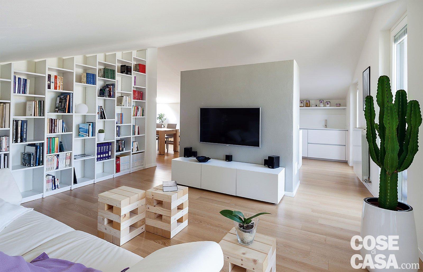 Abitare in mansarda cose di casa for Planimetrie della sala da pranzo della cucina aperta