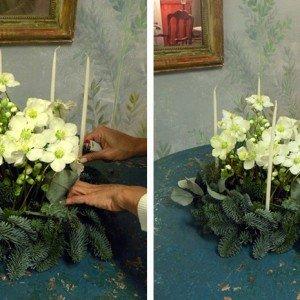 Inserite le candele nella spugna, scegliendo un tipo piuttosto sottile per garantirne la stabilità.