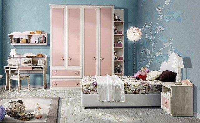 cameretta romantica bianca e rosa Old CC02 di Giessegi.