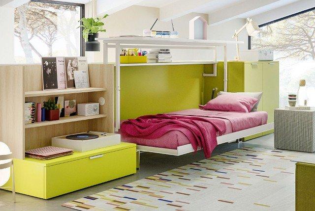 sistema trasformabile con letto e scrittoio Cabrio In Clei