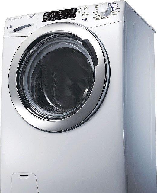 """Lavatrice GrandÓvita GSF 1510 LWHC3 di Candy: I capi restano in circolo quanto vuoi.Grazie all'app Simply-Fi, la lavatrice dotata di connettività Wi-Fi si può avviare e controllare a distanza. Tra le funzioni, innovativa è la possibilità di """"chiedere"""" all'apparecchio di tenere in circolo il bucato nel cestello se non lo si può stendere subito. Con un massimo di 1.500 giri al minuto, la lavabiancheria è dotata di Mix Power System che consente di ottenere ottimi risultati in meno di un'ora."""