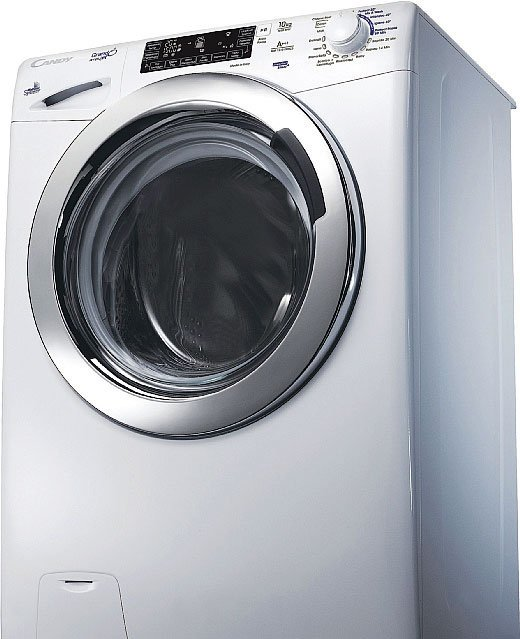 """I capi restano in circolo quanto vuoi Grazie all'app Simply-Fi, la lavatrice dotata di connettività Wi-Fi si può avviare e controllare a distanza. Tra le funzioni, innovativa è la possibilità di """"chiedere"""" all'apparecchio di tenere in circolo il bucato nel cestello se non lo si può stendere subito. Con un massimo di 1.500 giri al minuto, la lavabiancheria è dotata di Mix Power System che consente di ottenere ottimi risultati in meno di un'ora. ● Lavatrice GrandÓvita GSF 1510 LWHC3 di Candy"""