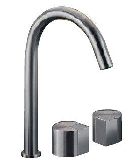 Duet di Cea Design (www.ceadesign.it) è in acciaio inossidabile AISI 316/L, con doppia finitura, lucida e satinata. L'erogazione dell'acqua è regolata da aeratore e limitatore, che riducono la portata a 5 l/min.