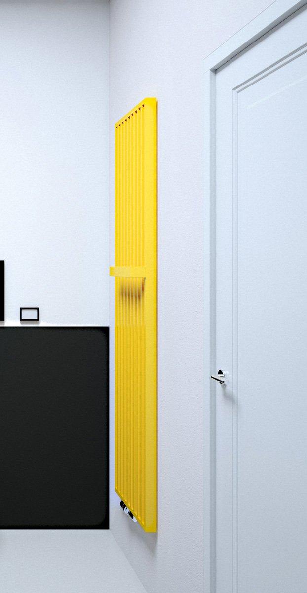È dotato di barra portasciugamani saldata nella struttura il radiatore Arche Plus di Vasco (www.vasco.eu), adatto anche per impianti alimentati da pompa di calore o da solare termico. Esiste in varie dimensioni, da L 47 x H 180 a L 67 x H 220 cm.