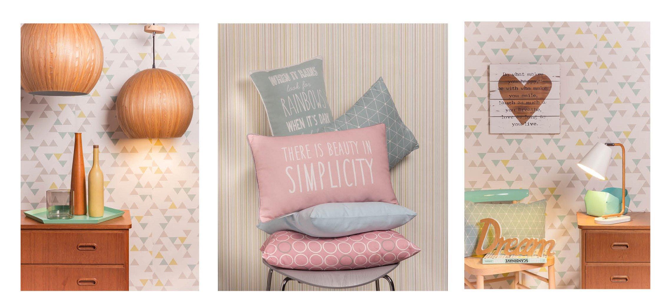 Cuscino simplicity rosa uac lampadario bolstar uac tutto for Carta parati mattoni leroy merlin