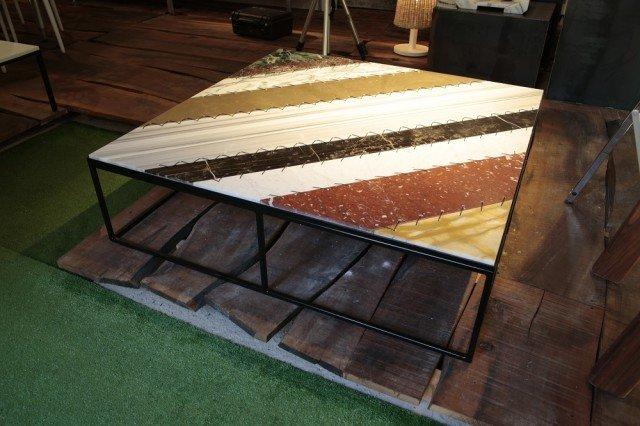 RAPTIKIS, piano del tavolino da esterni, progettista Giuseppe Zicca che ha vinto il primo premio della tipologia Outdoor del concorso The B-Side 2.0