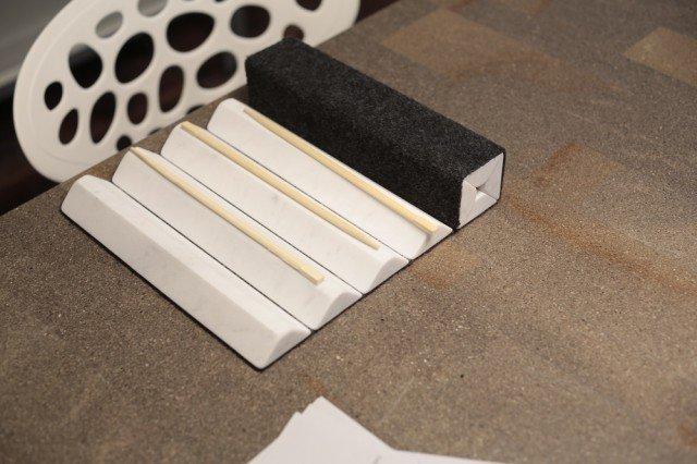 """STUOIA PER SUSHI, realizzata da Monica Merlotti, vincitrice del primo premio della tipologia """"Elementi cucina""""."""