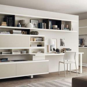 angolo studio in soggiorno: integrato nella libreria o in un ... - Zona Studio In Soggiorno
