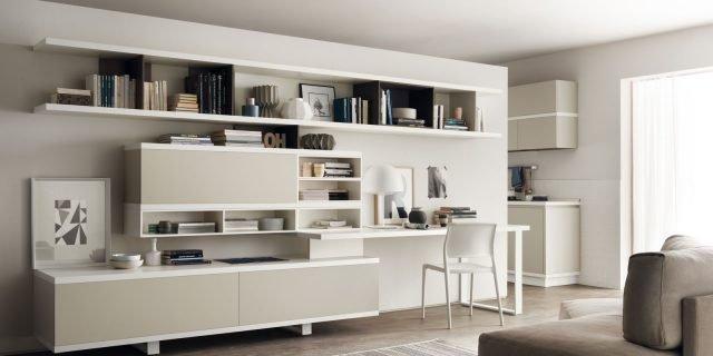 Angolo studio in soggiorno: integrato nella libreria o in un ...