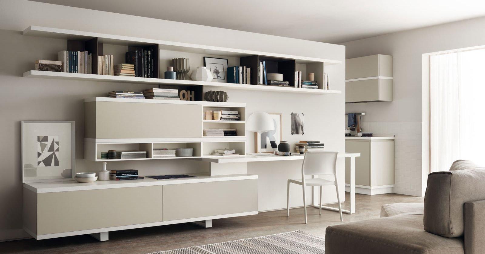 Credenza Libreria Ikea : Angolo studio in soggiorno integrato nella libreria o un