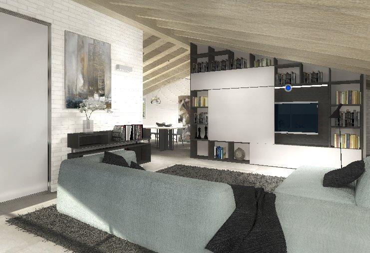 Arredare la mansarda progetto in 3d cose di casa for Arredare in 3d