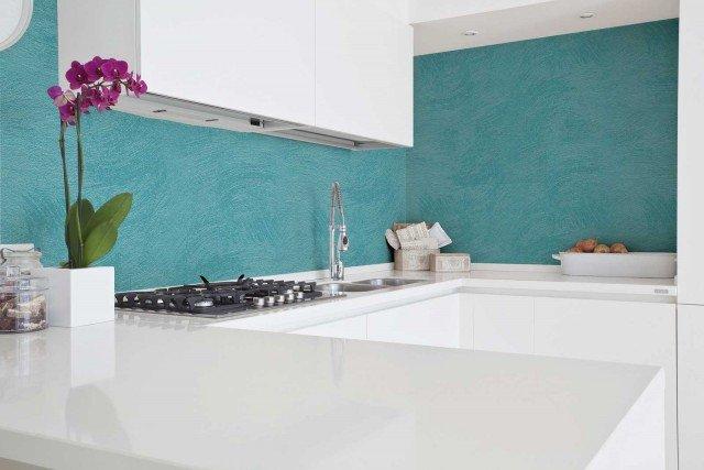 L'idropittura decorativa Land di Cap Arreghini è protetta da una vernice a base acrilica, lavabile e resistente alle macchie. www.caparreghini.it