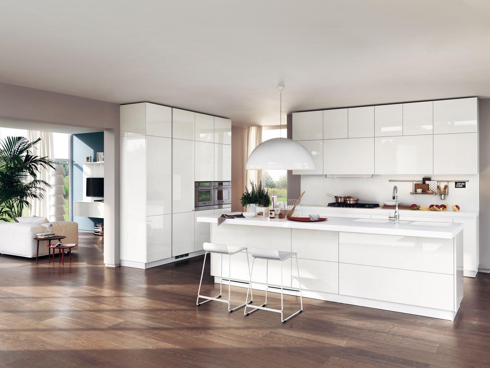Cucina Moderna Bianca Laccata cucina bianca: il fascino eterno della luminosità - cose di casa
