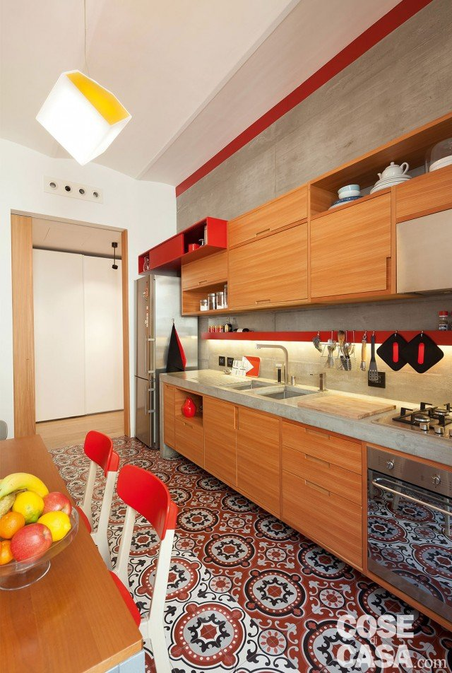 85 mq rinnovati con piastrelle decor effetto cementina cose di casa - Piastrelle cucina prezzi al mq ...