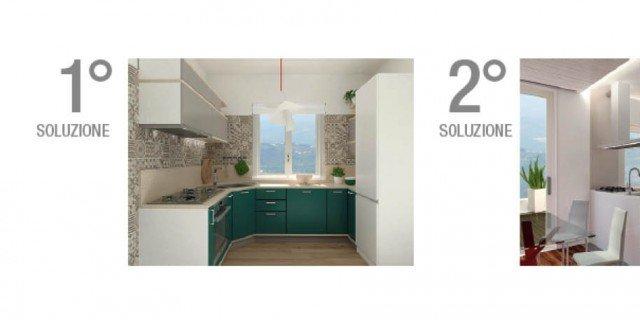 Progetti cucina: due soluzioni per 7 mq