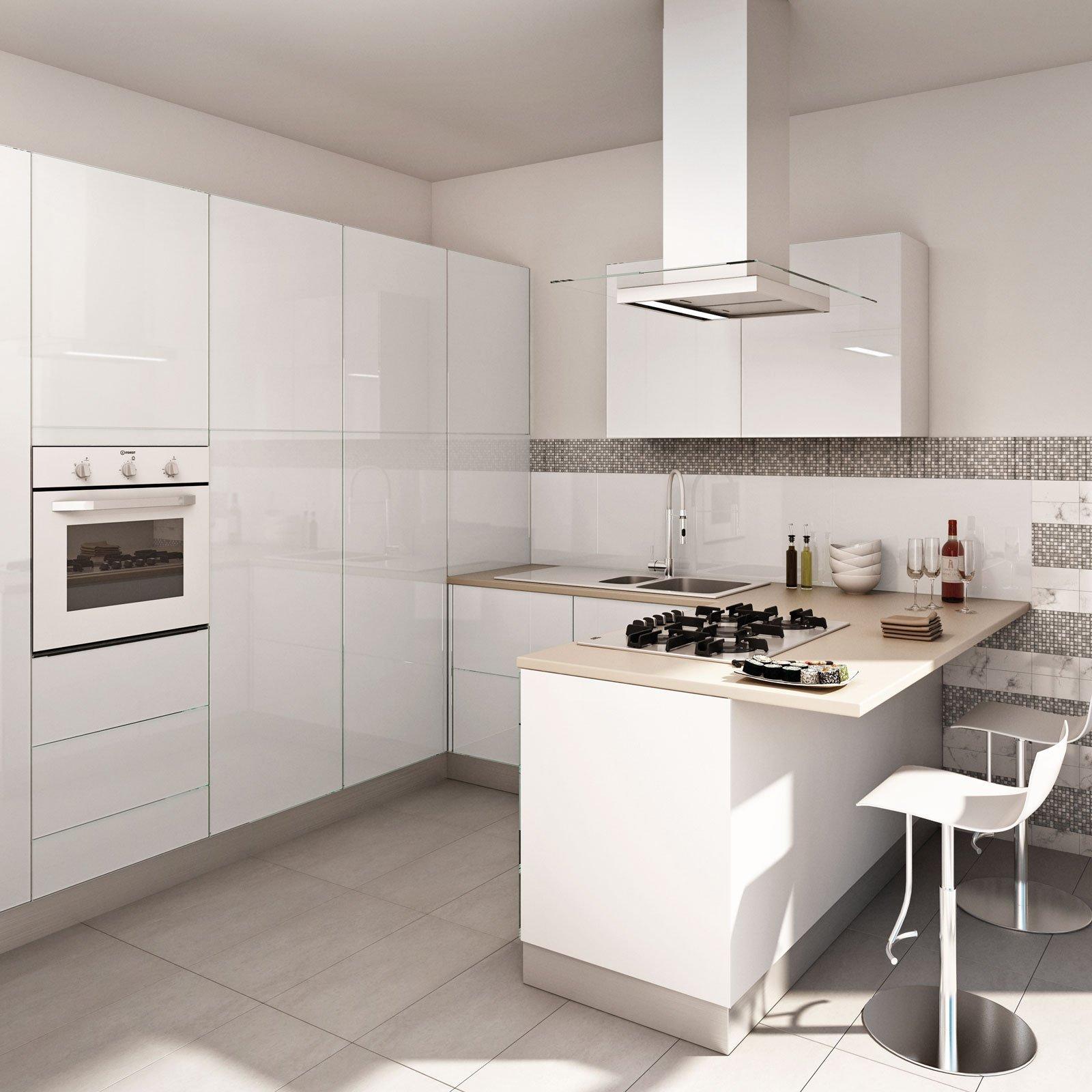 Cucina Bianca: Il Fascino Eterno Della Luminosità Cose Di Casa #586A73 1600 1600 Pensili E Basi Cucina Ikea