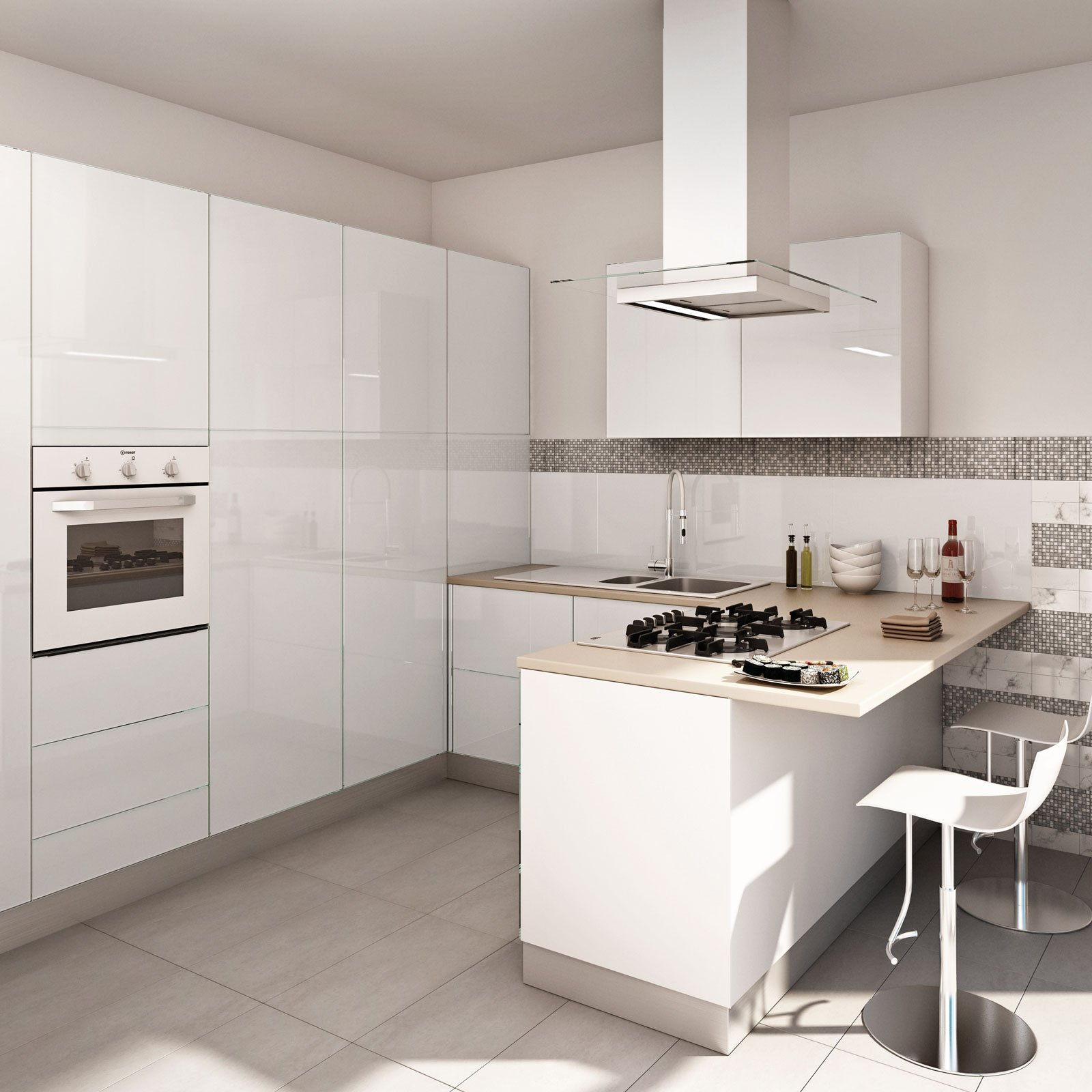 Cucina bianca il fascino eterno della luminosit cose di casa - Cucina bianca lucida ...