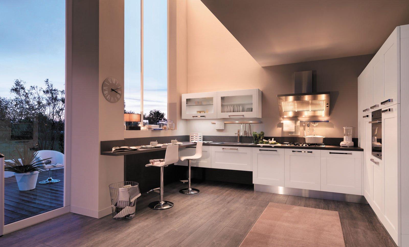Cucina Moderna Bianca E Rovere. Awesome Cucina Rovere Grigio Con ...