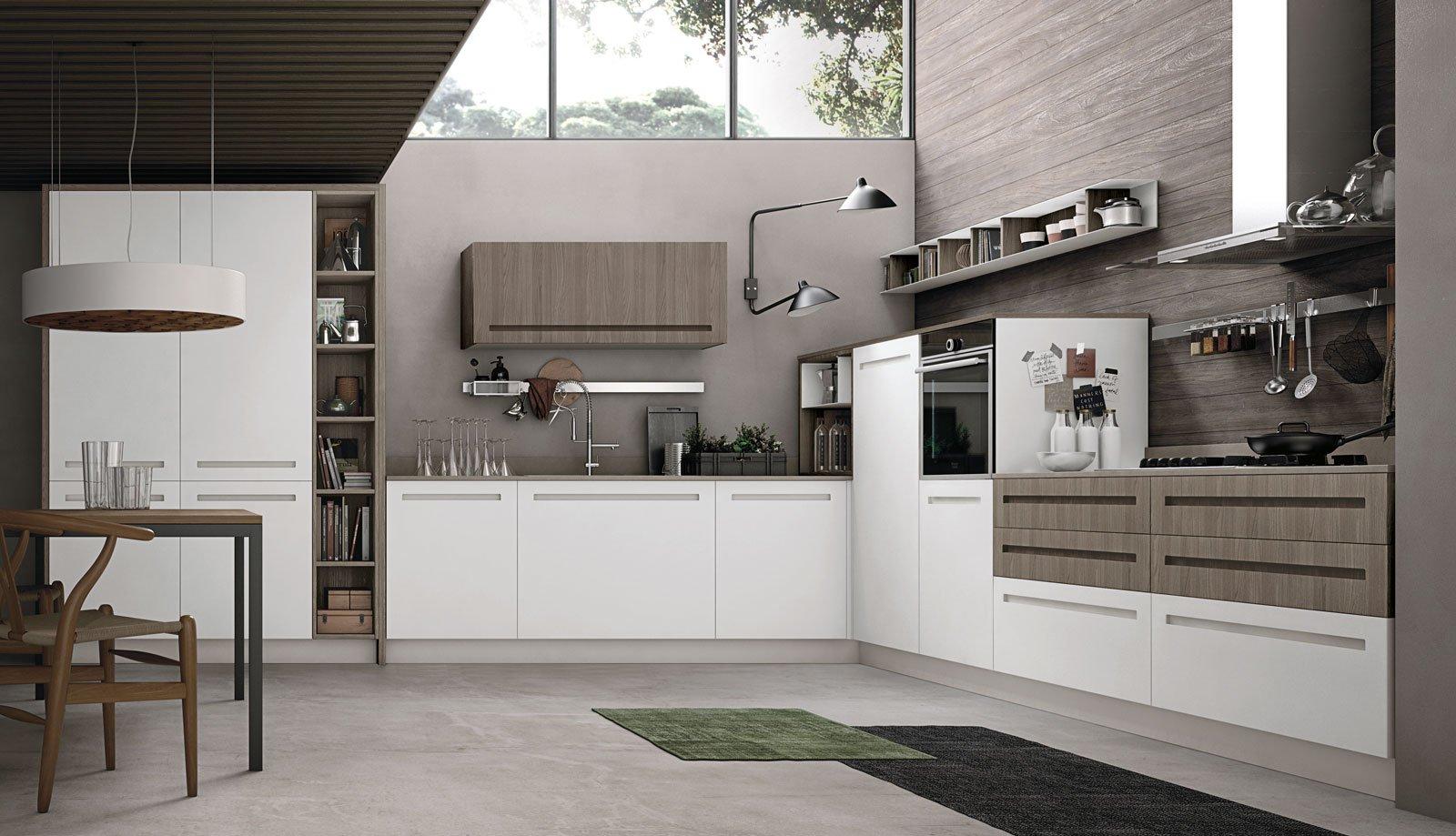 Latest cucina bianca il fascino eterno della luminosit - Cucina muratura bianca ...