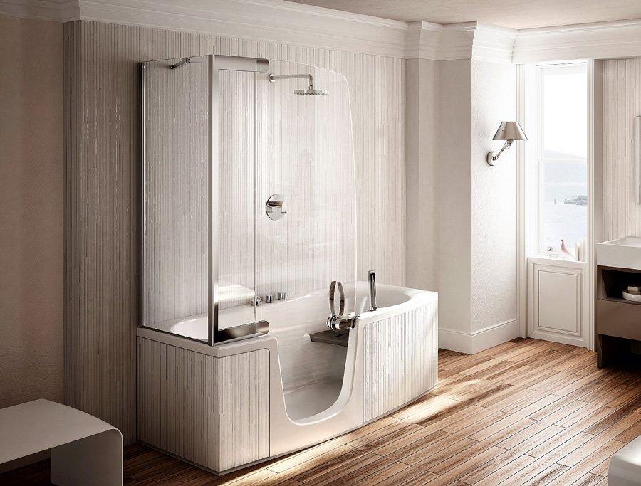 Vasca e doccia insieme per risparmiare spazio cose di casa