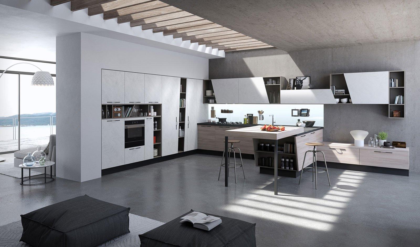 cucine in laminato cose di casa. Black Bedroom Furniture Sets. Home Design Ideas