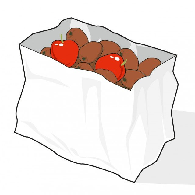 3. Dentro un sacchetto di carta con le mele durano 4-5 giorni