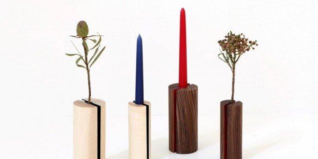 Komorebi: vaso e portacandele di Piero Lissoni