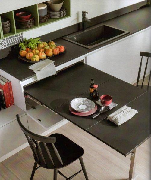 Piani estraibili a scomparsa cose di casa - Tavolo per cucina piccola ...